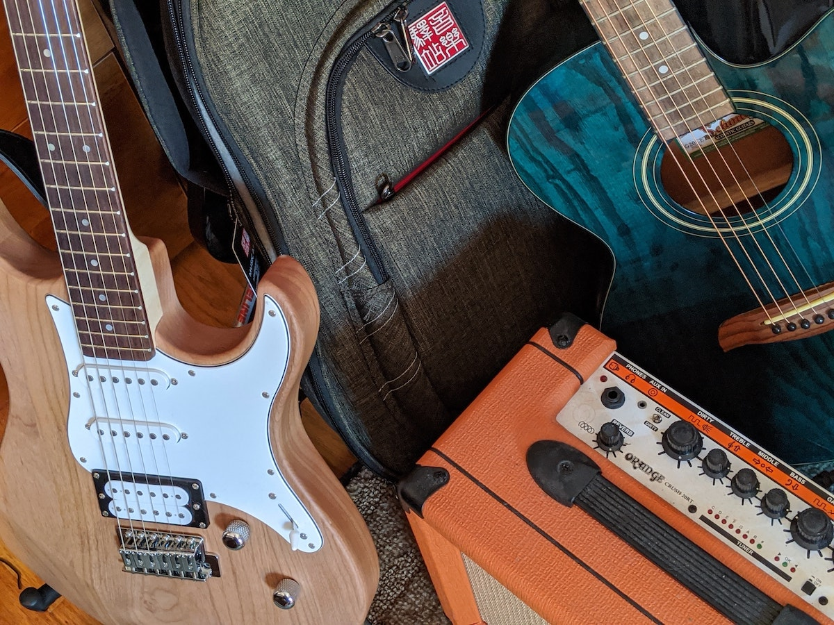 personal property (guitars and music equipment)